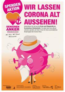 Spendnenkampagne Corona Masken - Kinikum Rheinbek